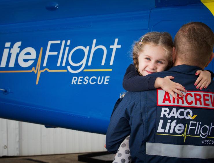 RACQ - Life Flight.  Brisbane CBD, July 11, 2016. Picture-Patrick Hamilton