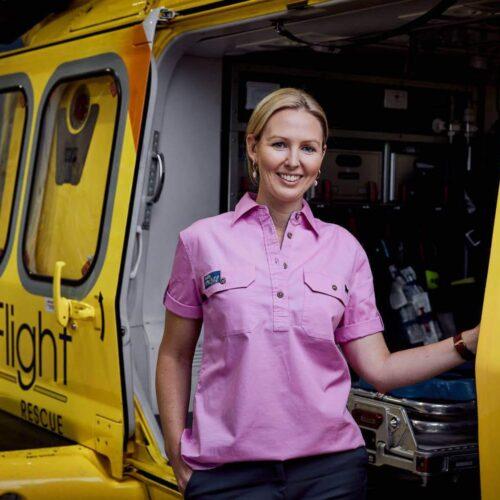 LifeFlight Ringers Western Work Shirt - Women's Pink
