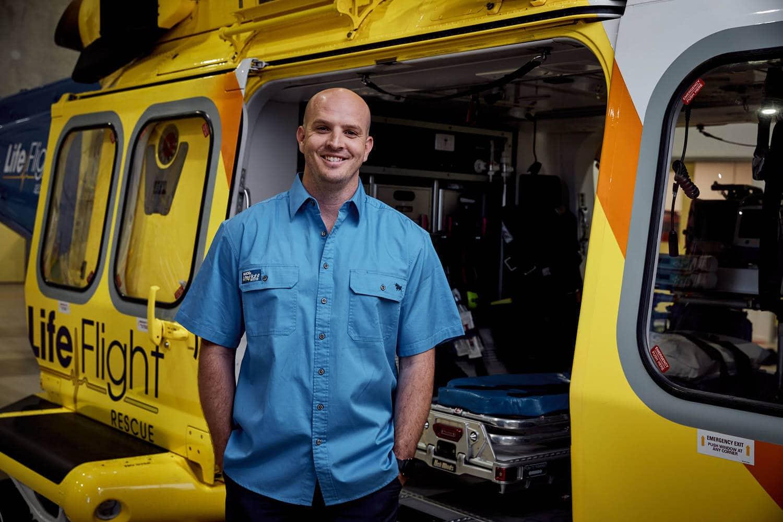 LifeFlight Ringers Western Work Shirt - Men's Blue