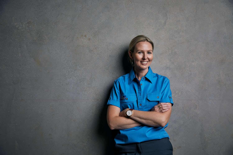 LifeFlight Ringers Western Work Shirt - Women's Blue
