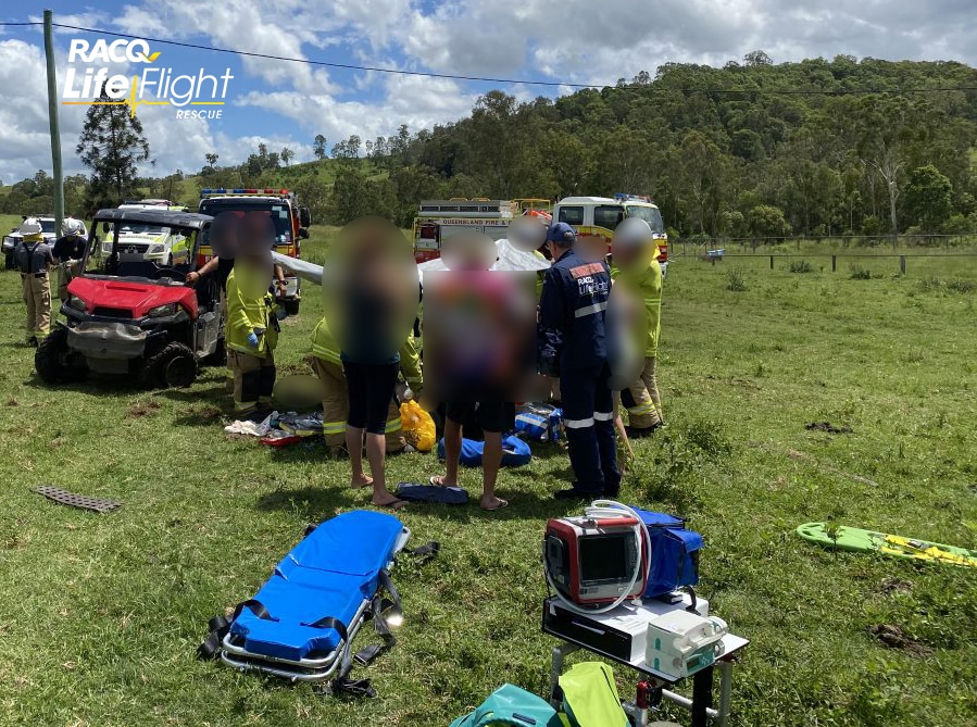 Farmer airlifted after off-road rollover