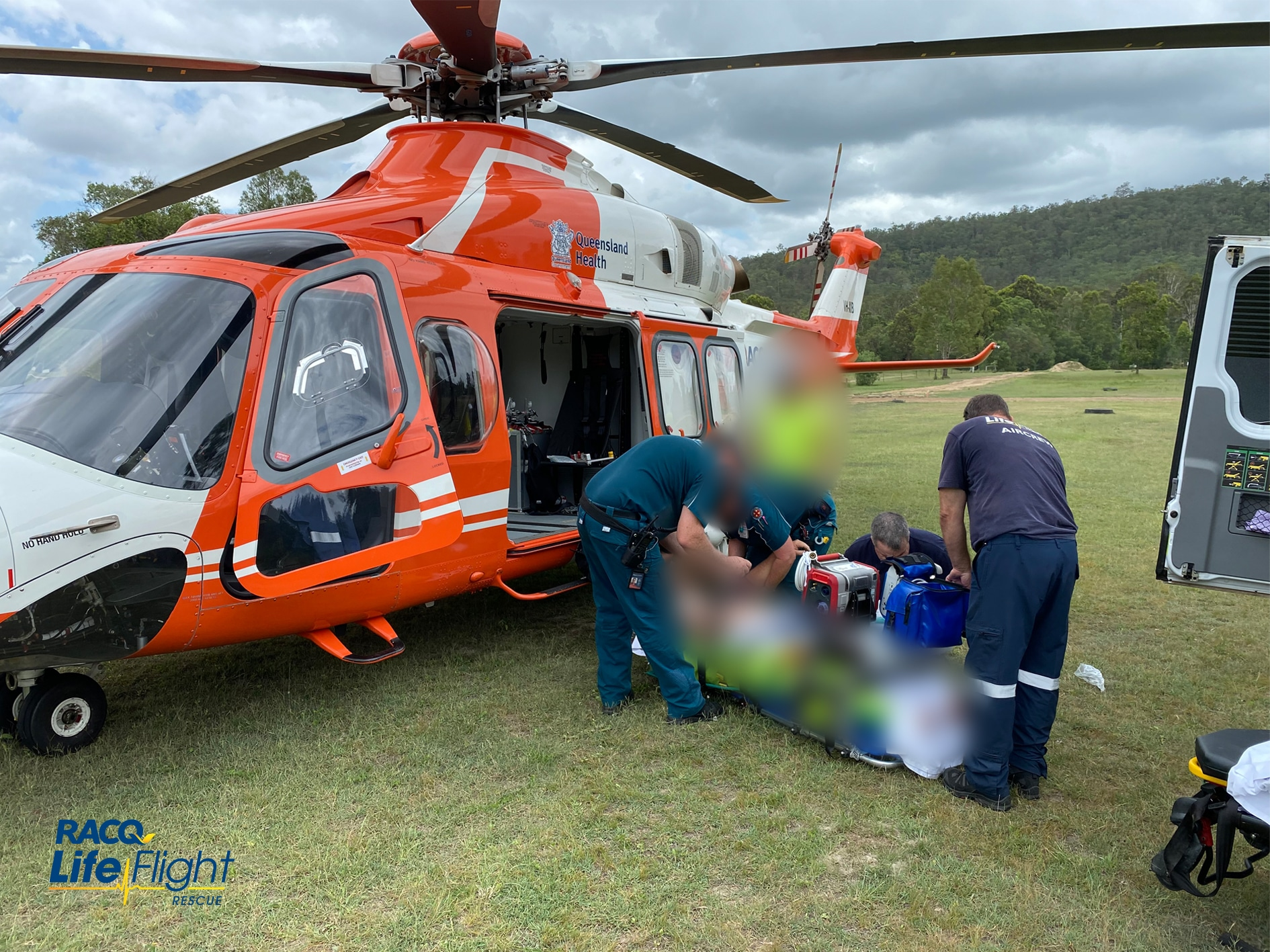 RACQ LifeFlight Rescue airlifts seriously injured motocross rider