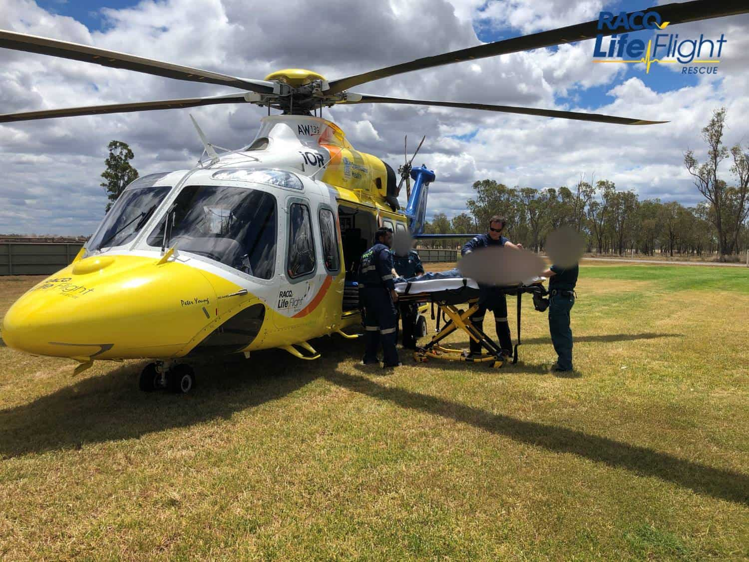 RACQ LifeFlight Rescue airlifts man after farming accident