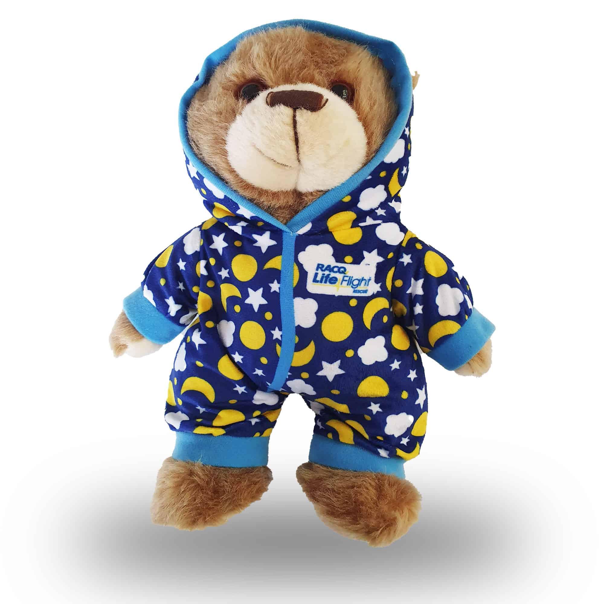 blue pyjama bear