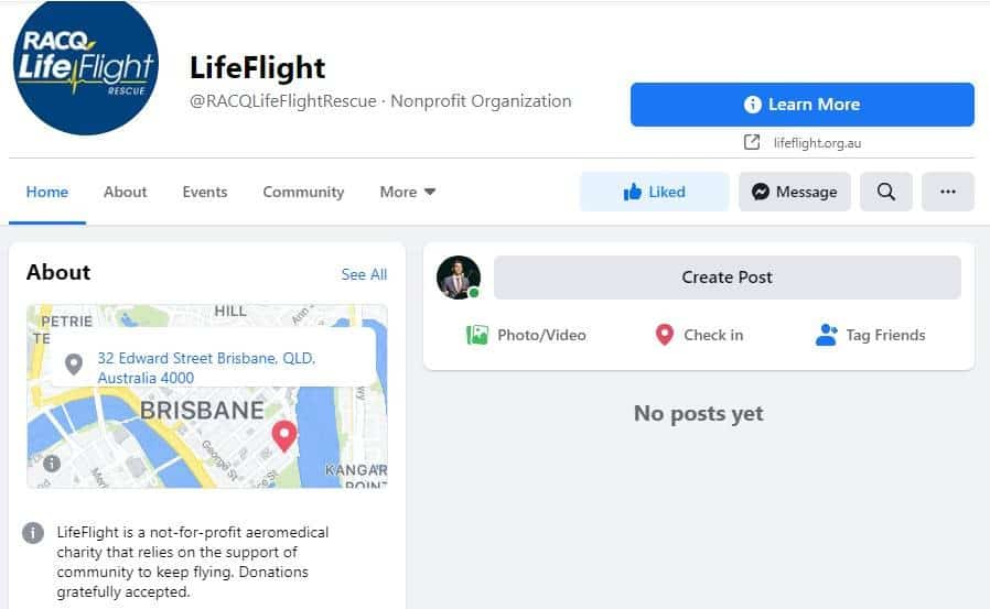 RACQ LifeFlight Rescue continues fight for Facebook page reactivation