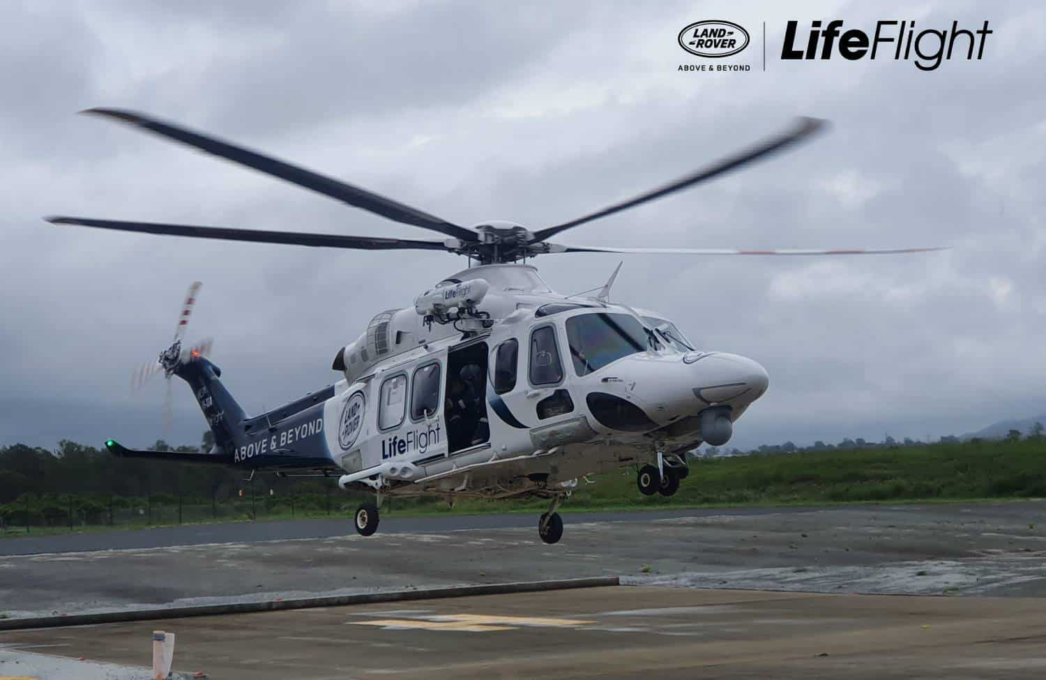 Land Rover LifeFlight Special Mission chopper called in to assist NSW flood crisis