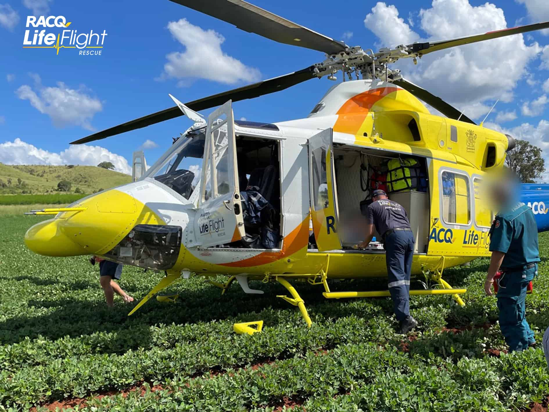 Young boy airlifted after multi-motorbike crash
