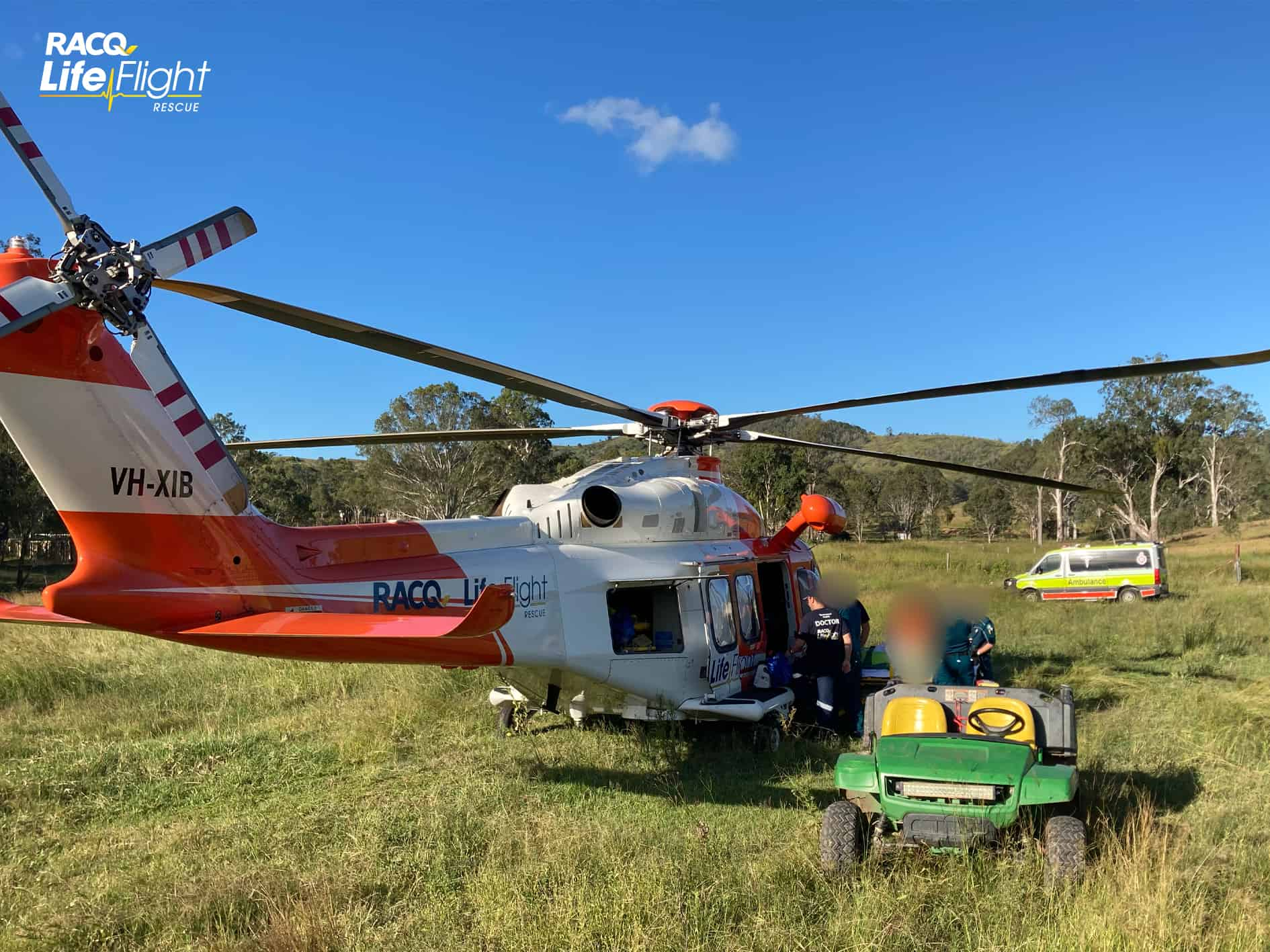 RACQ LifeFlight Rescue called to motocross track twice in one day