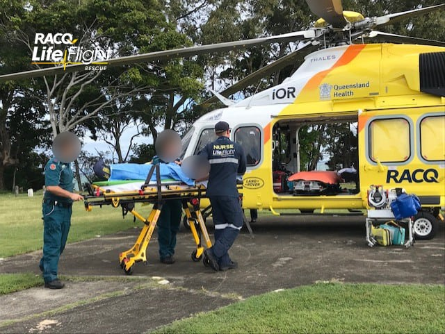 RACQ LifeFlight Rescue choppers airlift three motorcyclists after separate crashes