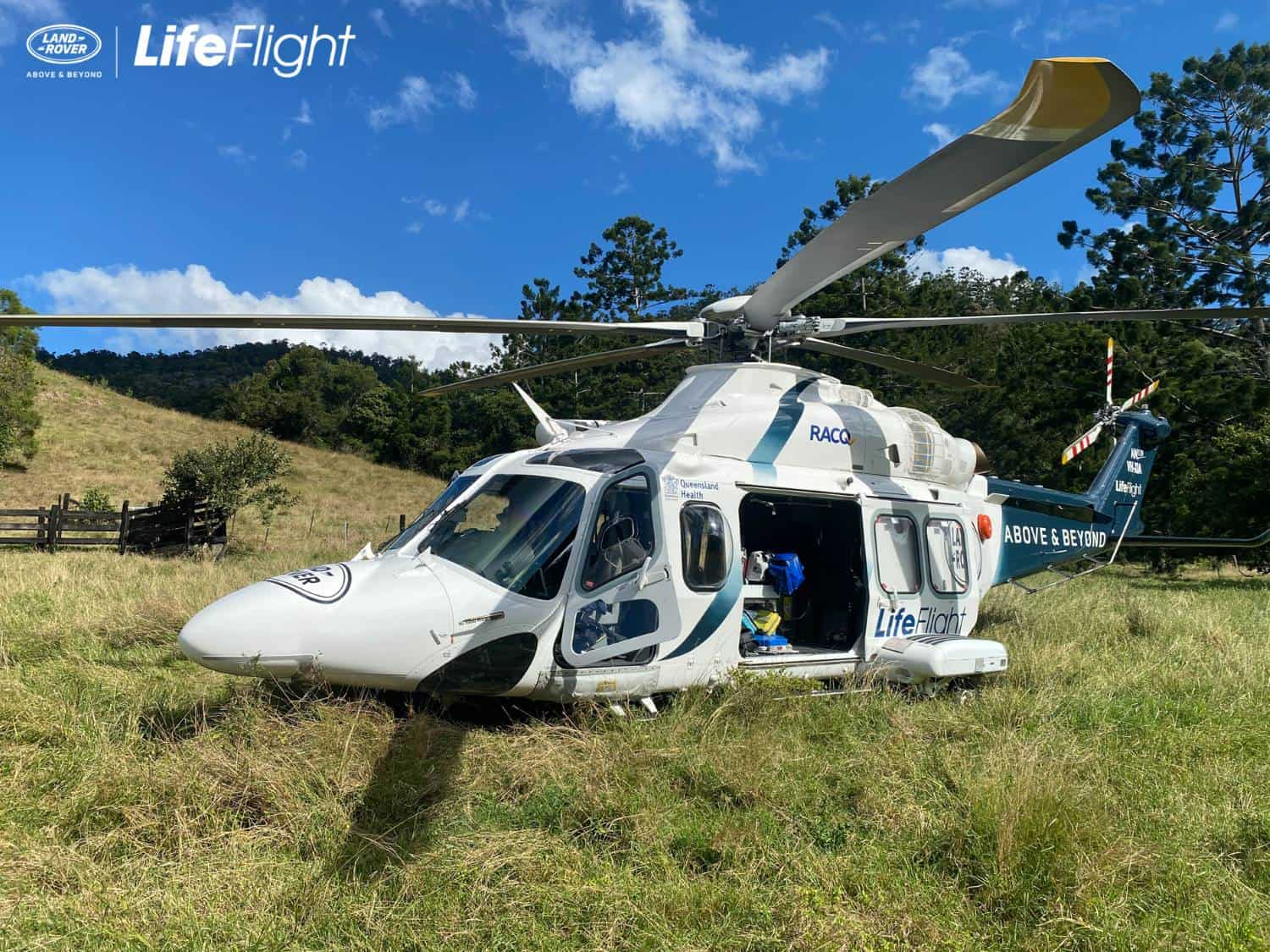 Woman airlifted after rally car crashes into tree
