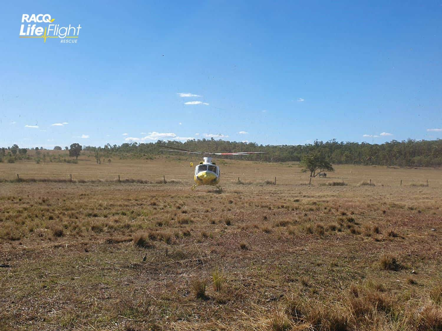 RACQ LifeFlight Rescue airlifts injured horse rider