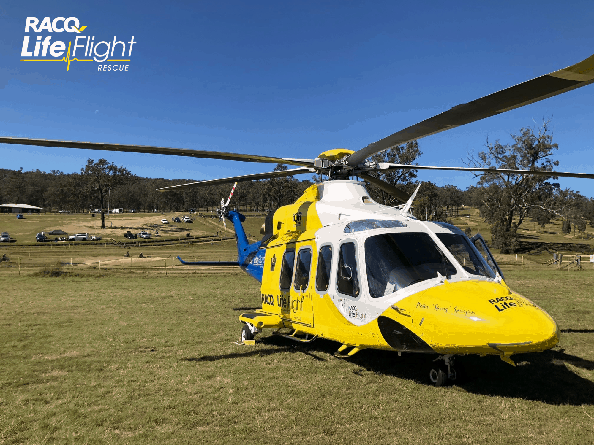 RACQ LifeFlight Rescue airlifts two injured riders from motocross park