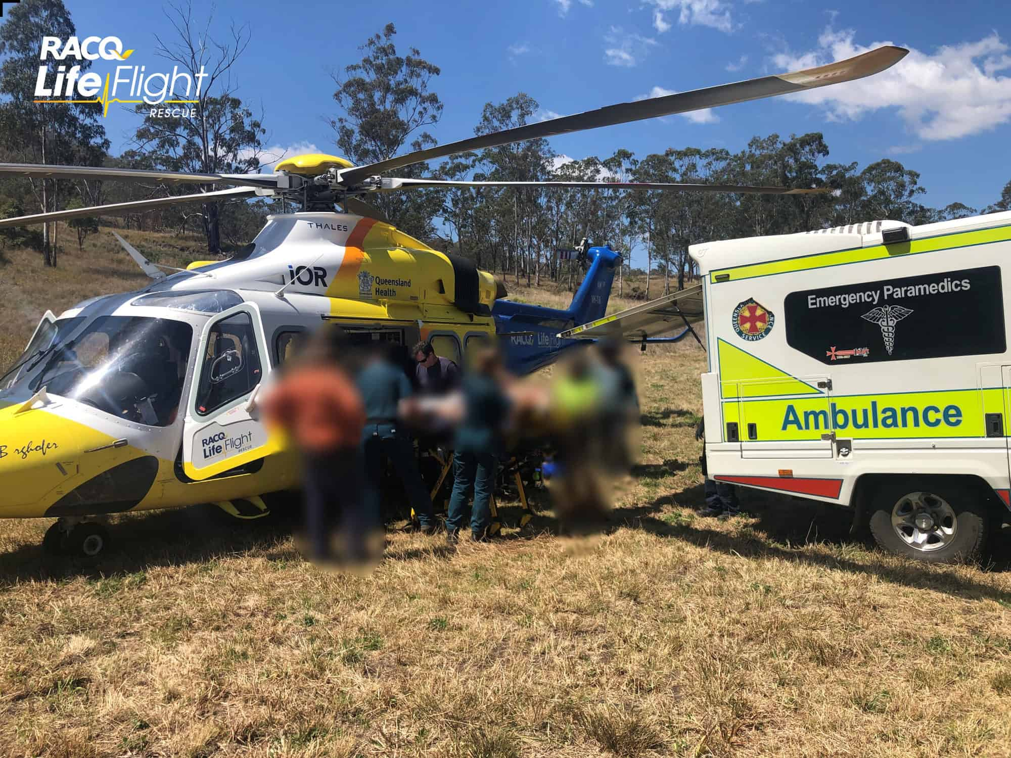 Aeromedical crew winched to scene of tractor rollover