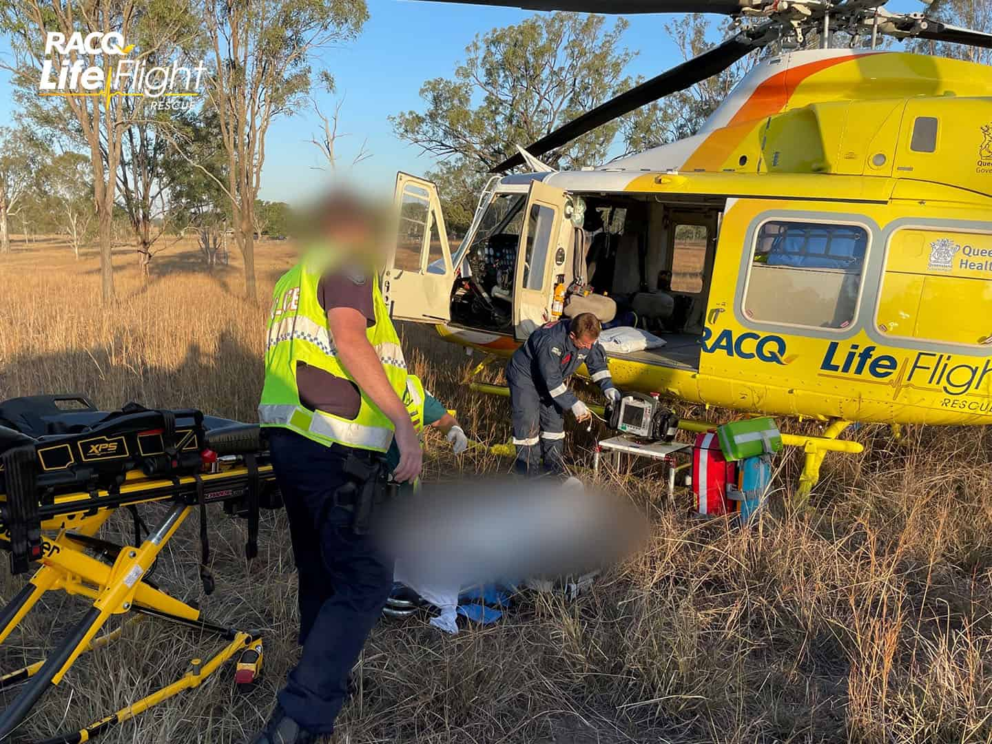 Seriously injured teen airlifted by RACQ LifeFlight Rescue
