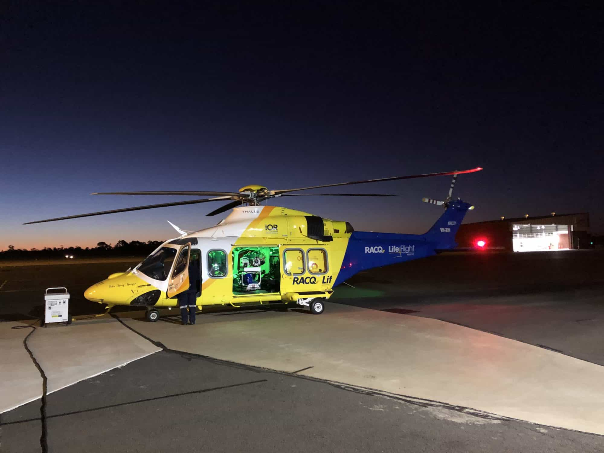 Man airlifted to hospital after single vehicle rollover